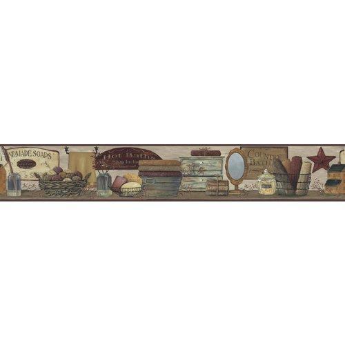York Wallcoverings CB5526BD Wallpaper Border Home Decor Borders Khaki 500x500