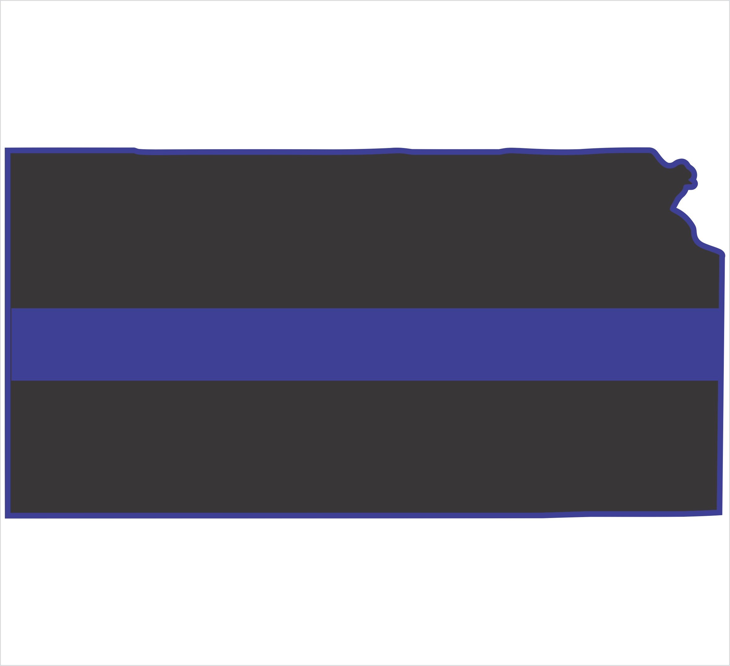 Free Download Thin Blue Line Flag Kansas Thin Blue Line 2359x2151