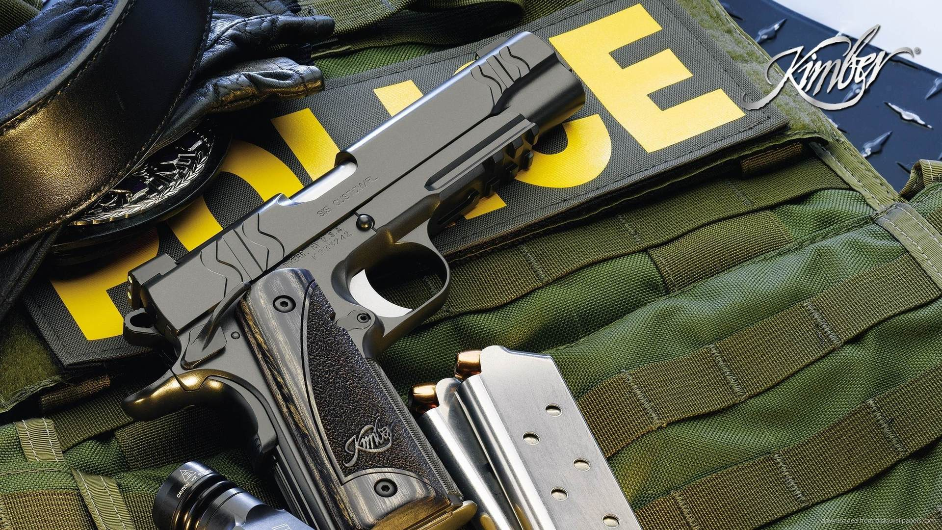 Colt 1911 Police Wallpaper For iPad 2 1920x1080