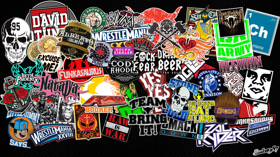 WWE Stickerbomb Wallpaper HD by sub1987thai on DeviantArt