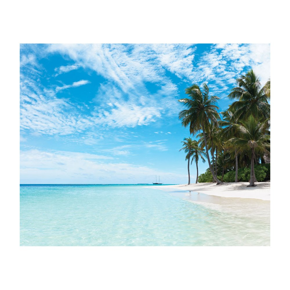 Palm Water Oasis Removable Full Wall Wallpaper Mural Lowes Canada 1000x1000