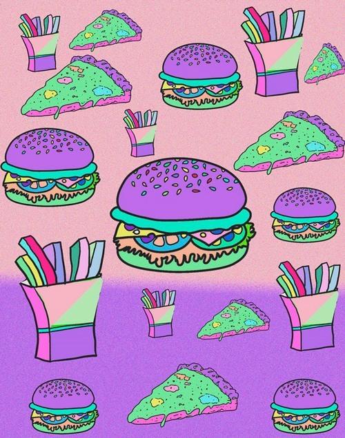 hamburger and pizza Tumblr 500x636