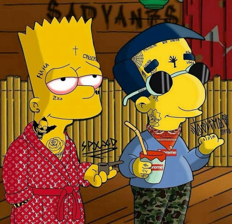 Supreme Bart Simpson Wallpapers   Top Supreme Bart Simpson 1440x1387