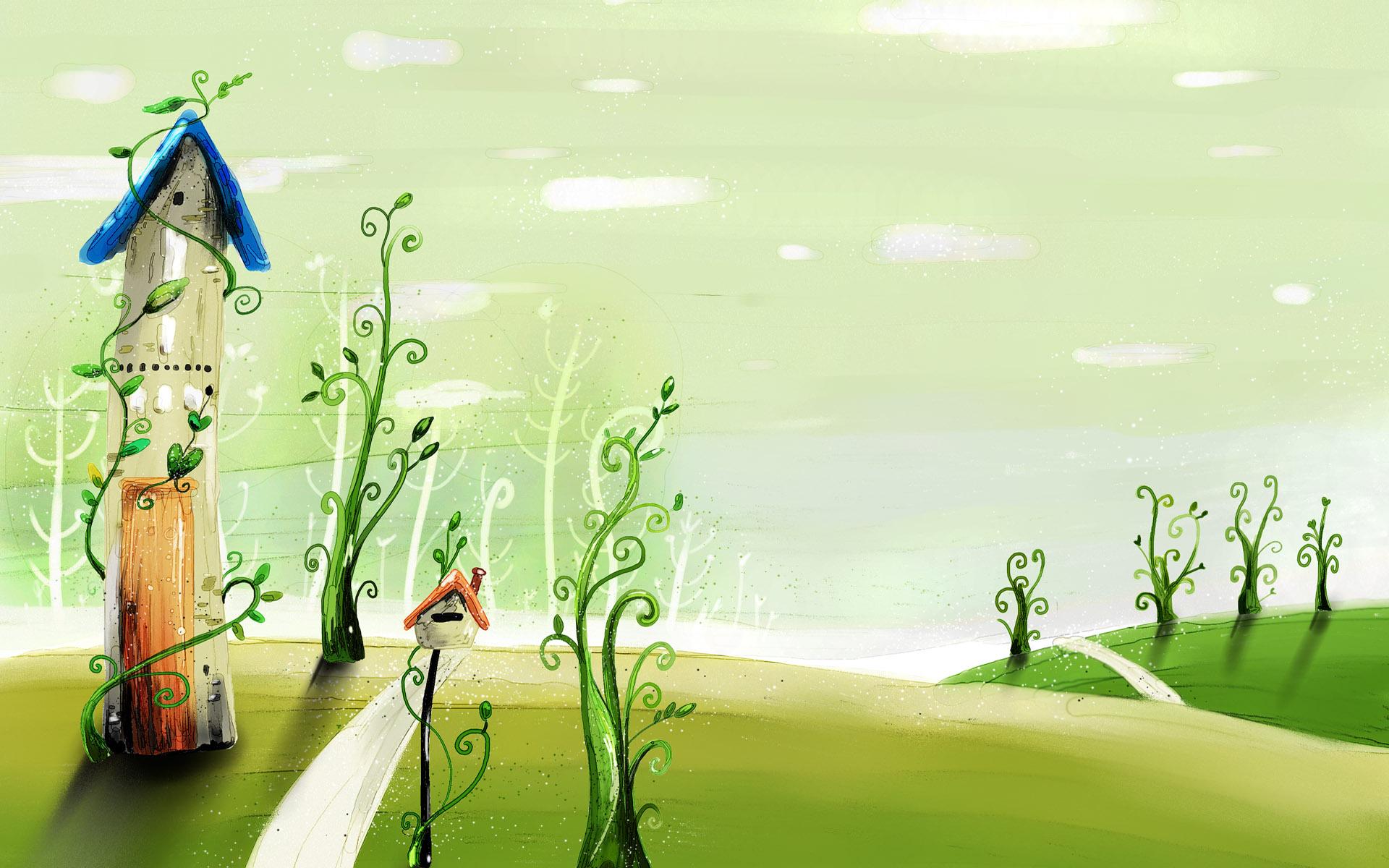 spring cartoon wallpaper 1024x640 1920x1200