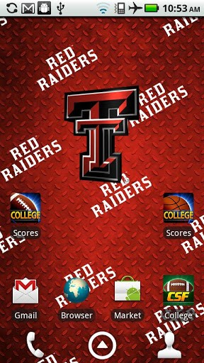 Texas Tech Live Wallpaper HD App for Android 288x512
