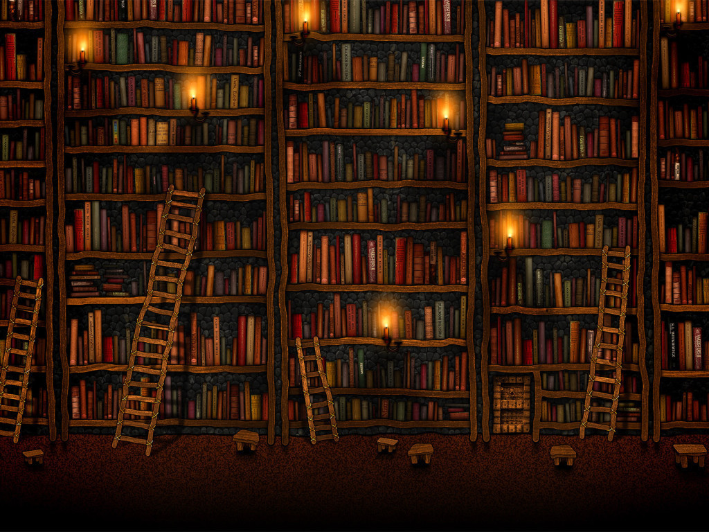 Google Library a wallpaper by Vlad Gerasimov Vladstudio 1024x768