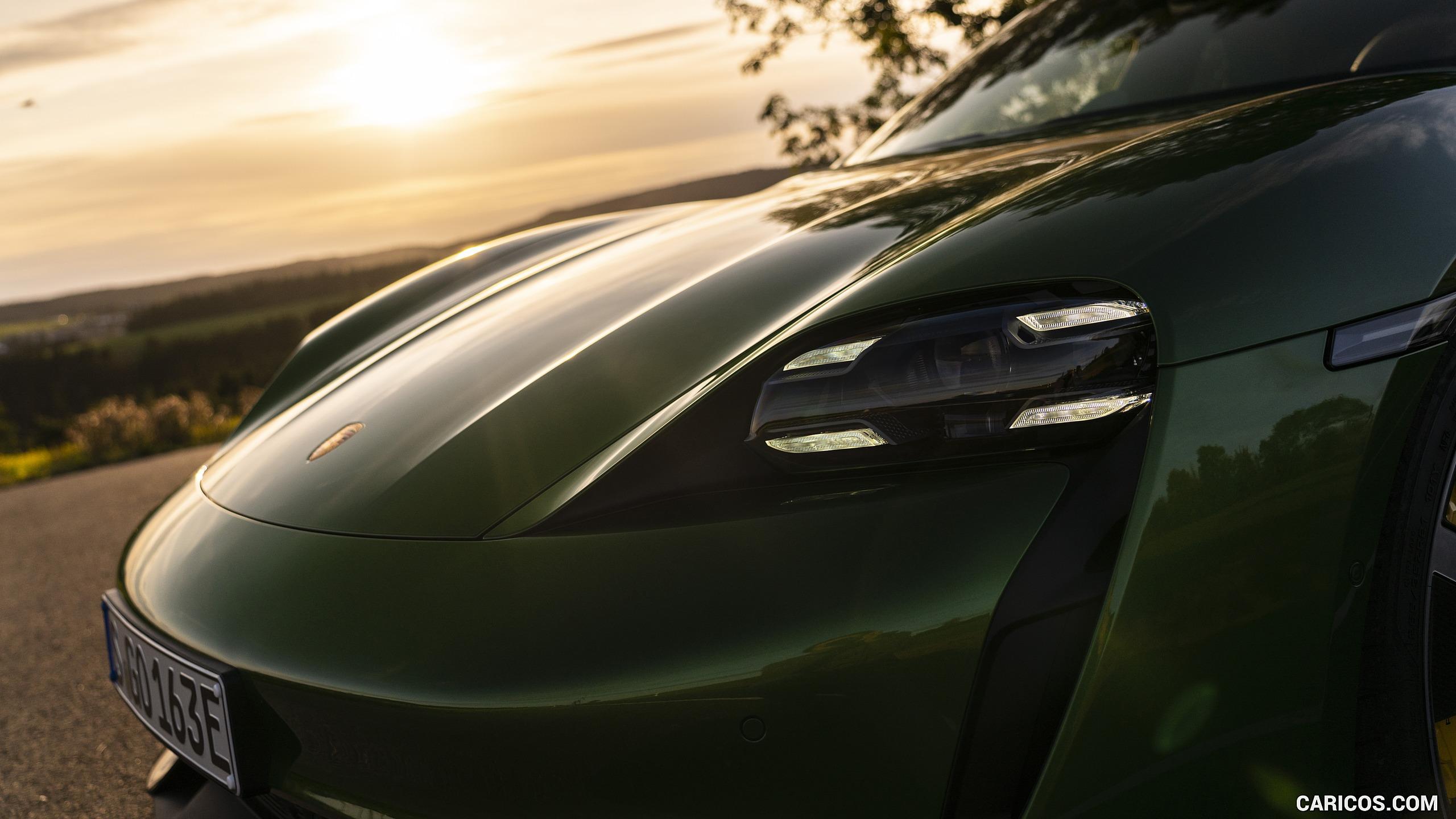 2020 Porsche Taycan Turbo S Color Mamba Green Metallic 2560x1440