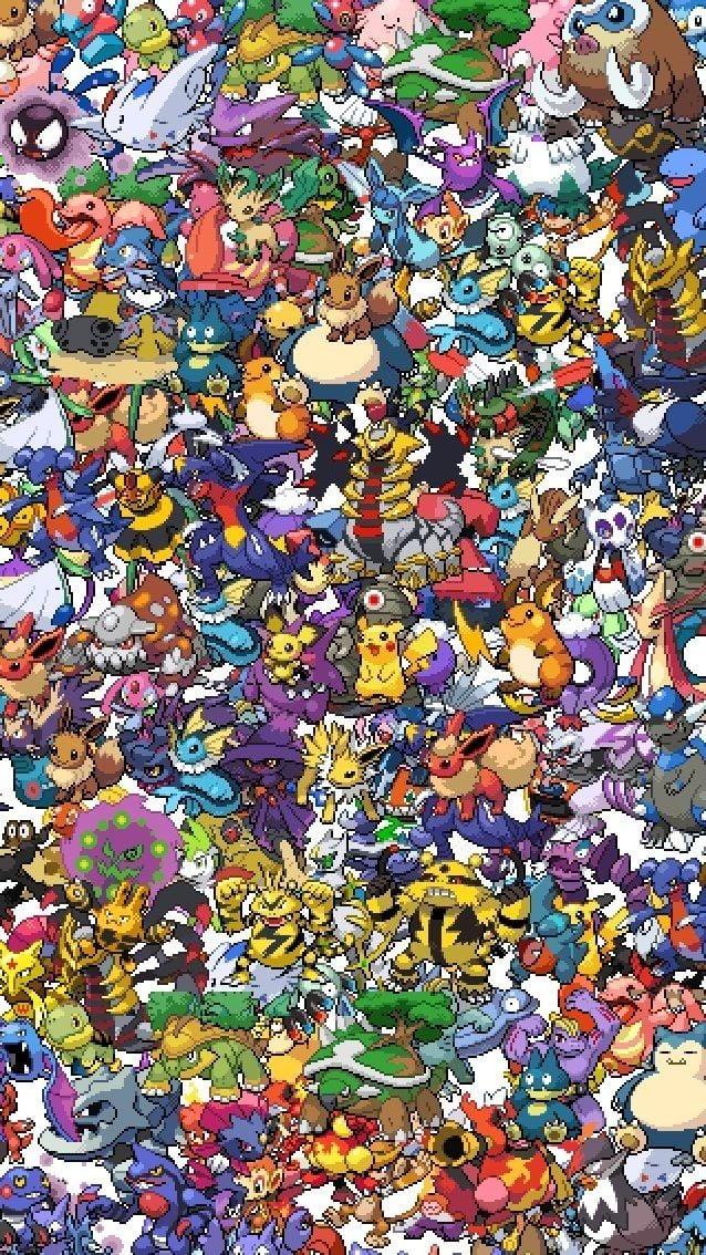 16 bit Pokemon wallpaper For your iPhone 5 Pinterest 638x1134