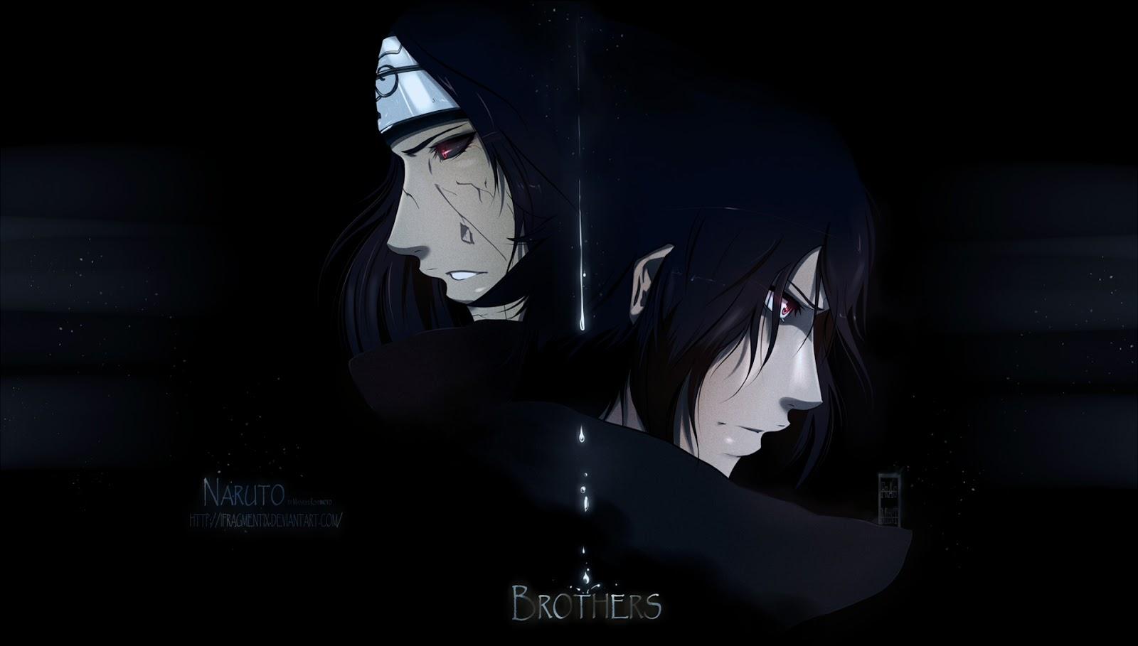 Uchiha Sasuke Itachi brothers ifragmentix deviant art anime hd 1600x909