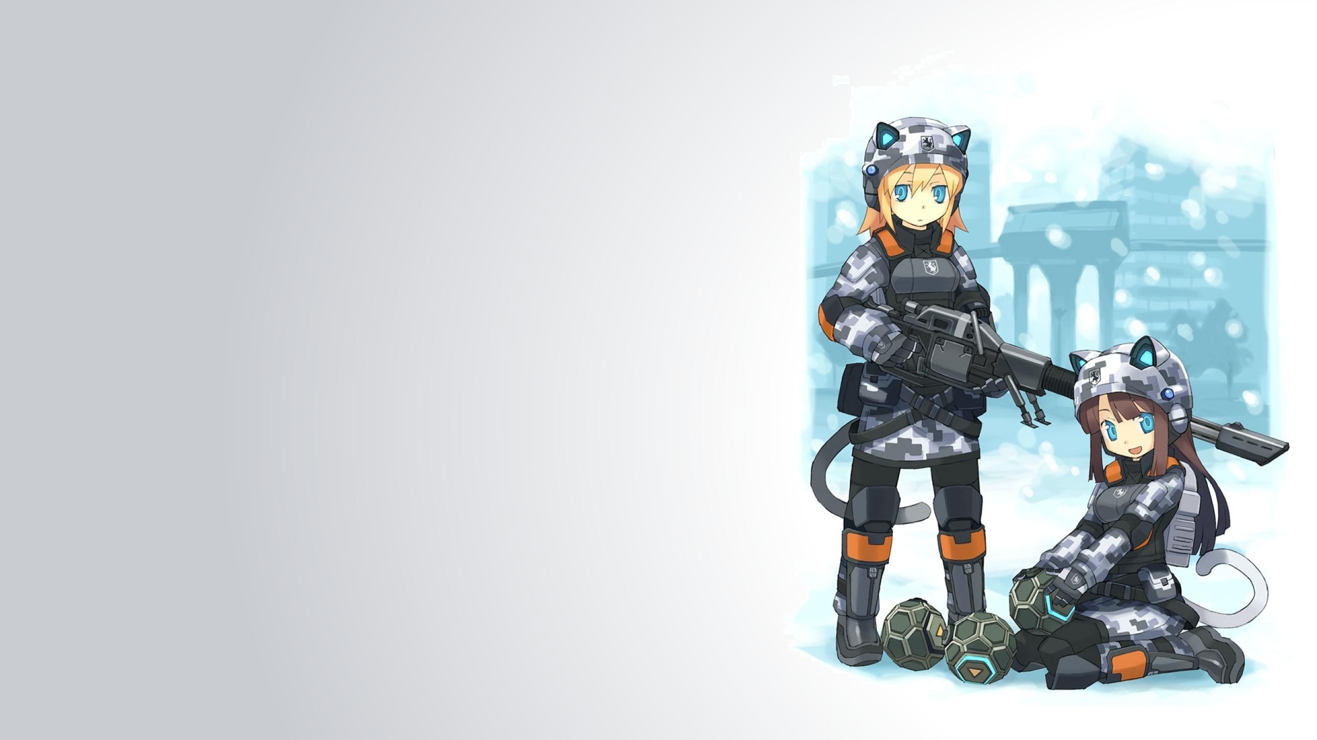 anime girls 1920x1080 wallpaper Art HD WallpaperHi Res Art Wallpaper 2560x1440