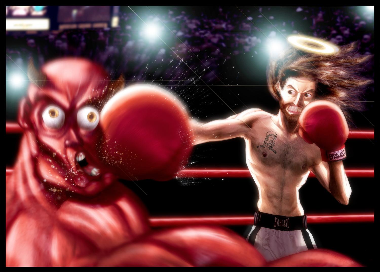 Satan Vs Jesus Wallpaper South park satan vs jesus 1500x1075