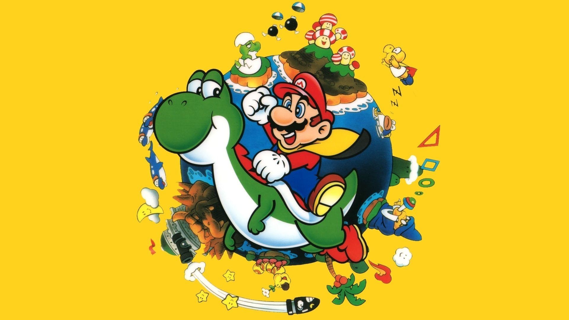 Mario Desktop Backgrounds: Super Mario World Wallpaper