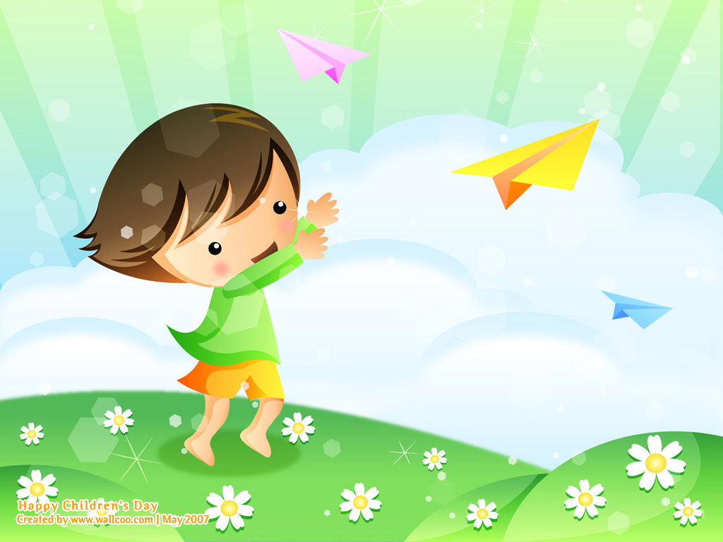 Childrens Day PowerPoint Backgrounds and Wallpapers   PPT Garden 1024x768