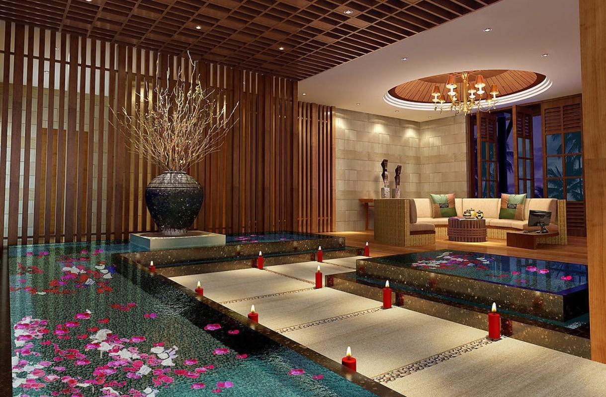 spa reception room night rendering spa resort room interior design 1219x800