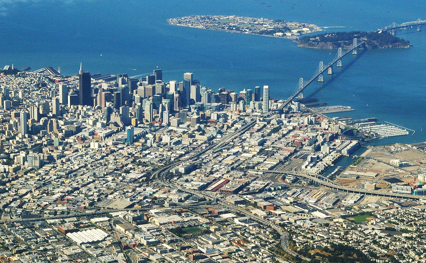 Aerial view of San Francisco   San Francisco   The City Pictures 1410x871