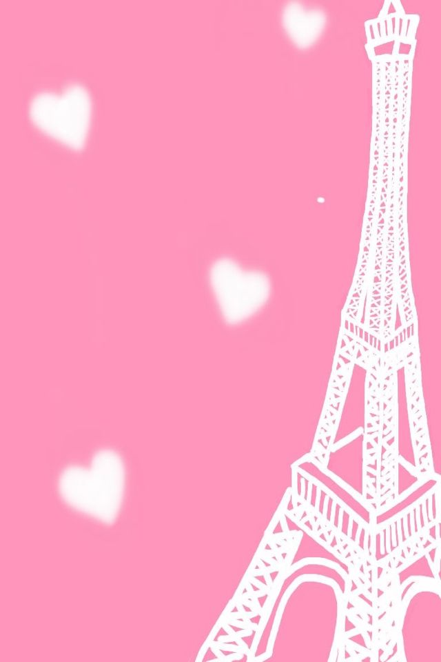 Wallpaper Iphone Pink Eiffel Tower