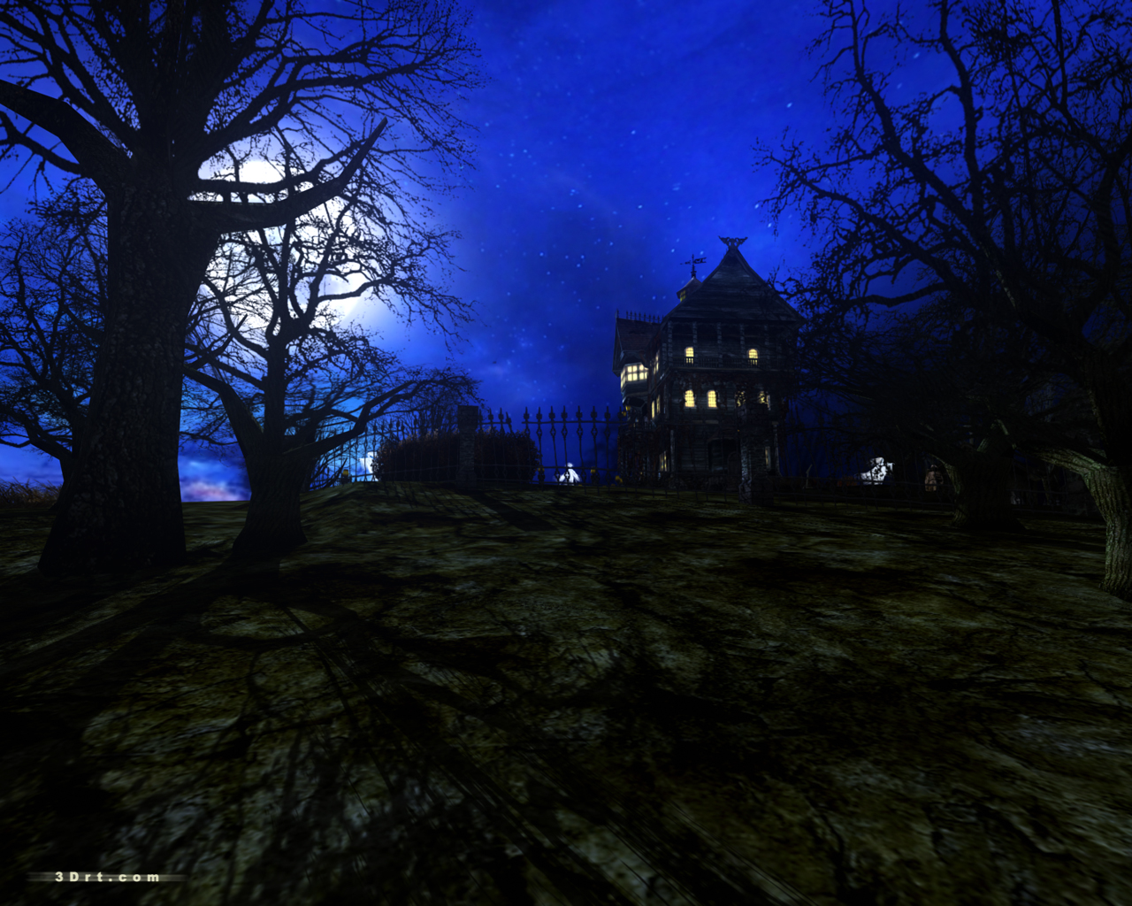Check also haunted house wallpapers 1280x1024