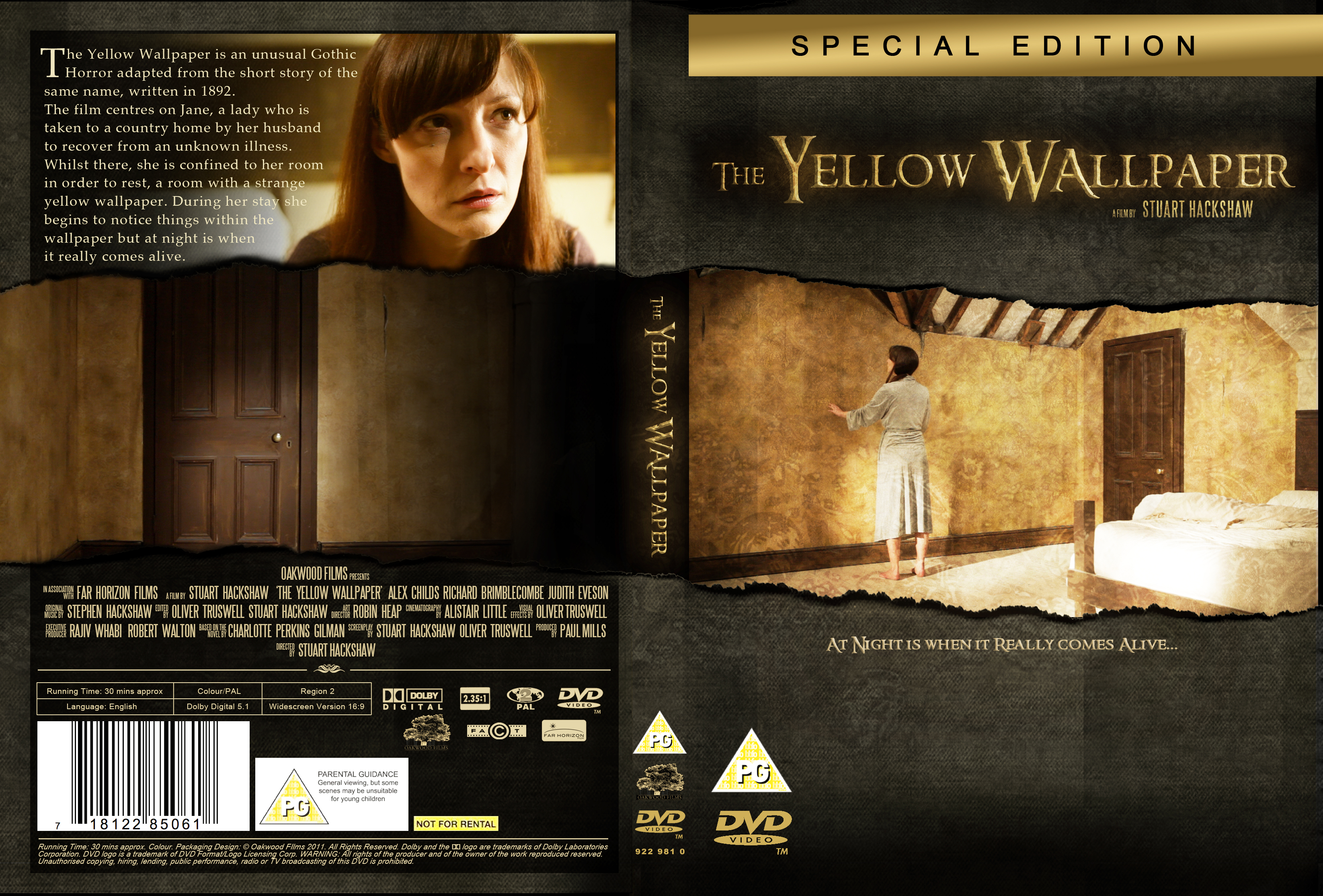 DVD Cover Design For The Yellow Wallpaper yellowwallpapershortfilm 3291x2230