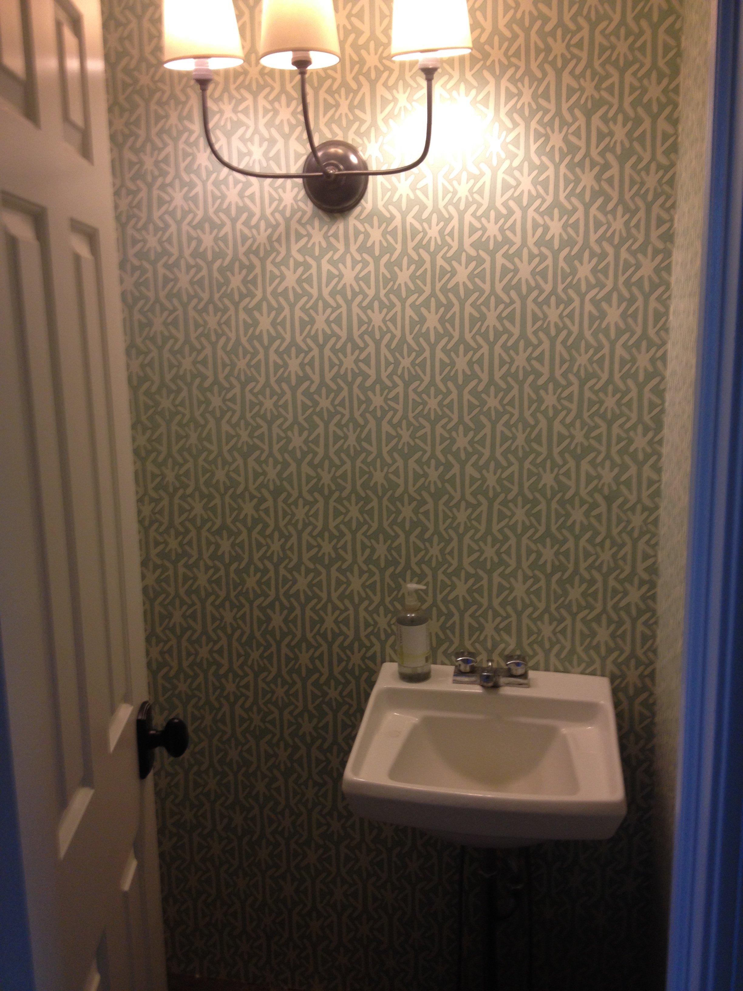 Half Bath WallpaperMudroom Update 2448x3264