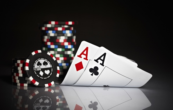 Wallpaper poker poker cards aces chips wallpapers miscellanea 596x380