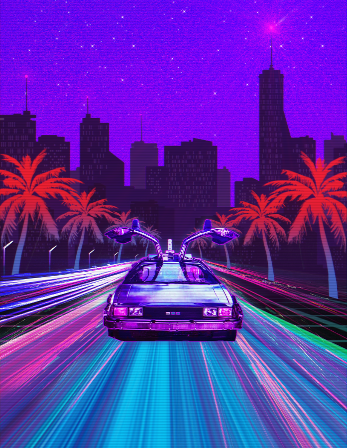 by Fondos Diseo   80s in 2019 Retro art Cyberpunk aesthetic 697x899