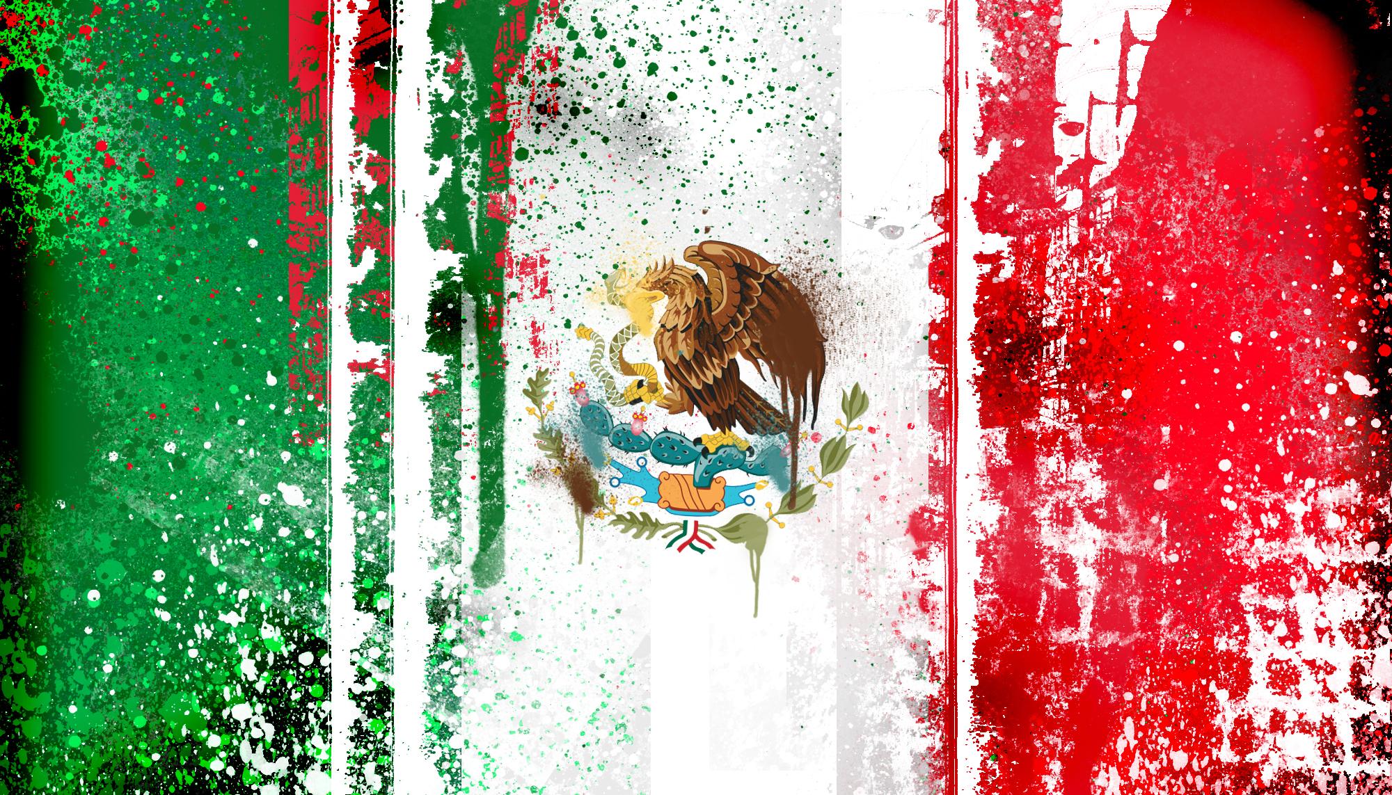 pintura de la bandera mexicana fondo de pantalla   ForWallpapercom 2000x1143