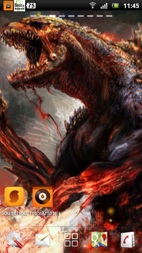 Godzilla Live Wallpaper 2 download for Android 480x854