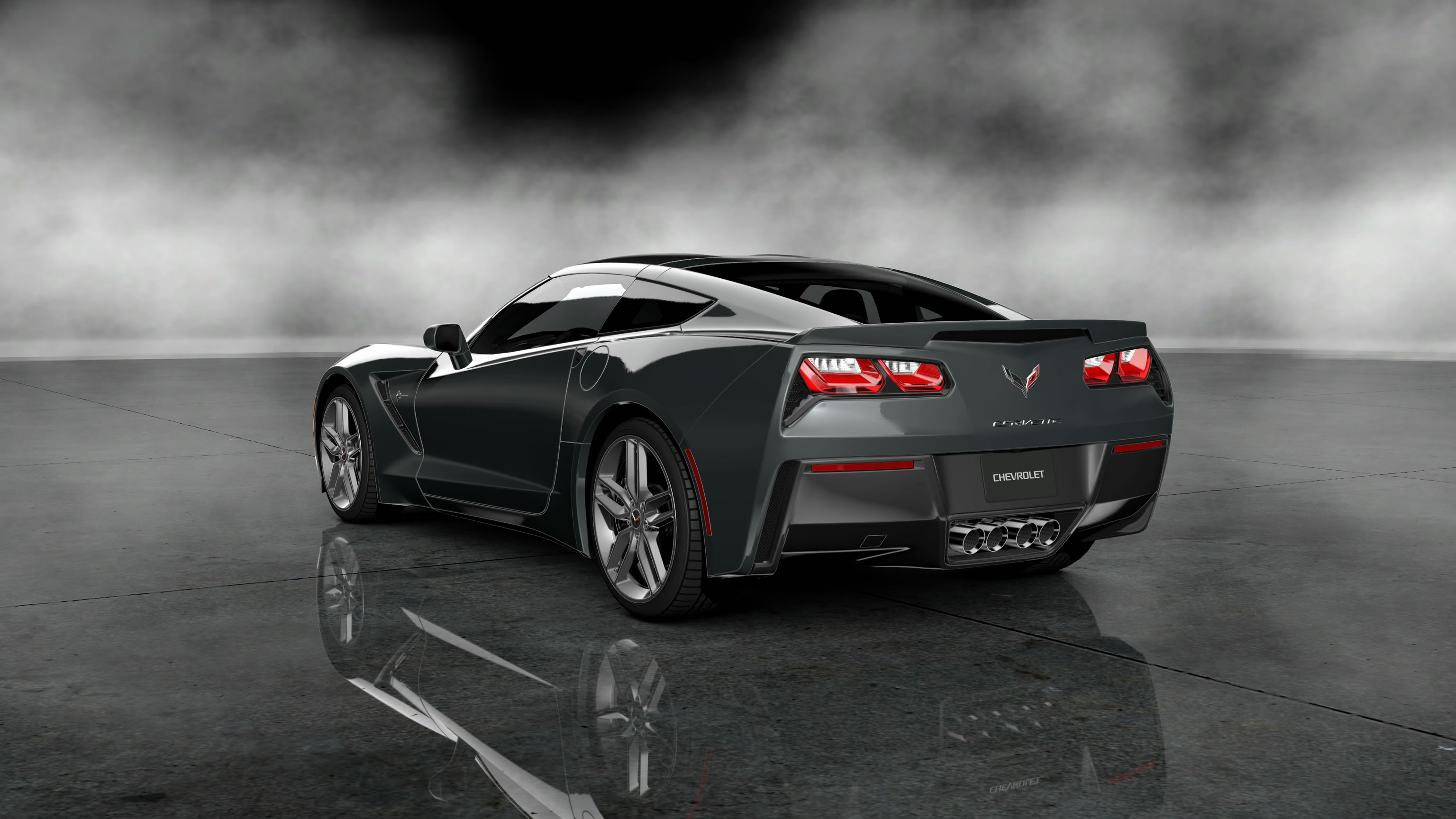 c7 Corvette Logo Wallpaper Corvette c7 2014 Wallpaper 3072x1728