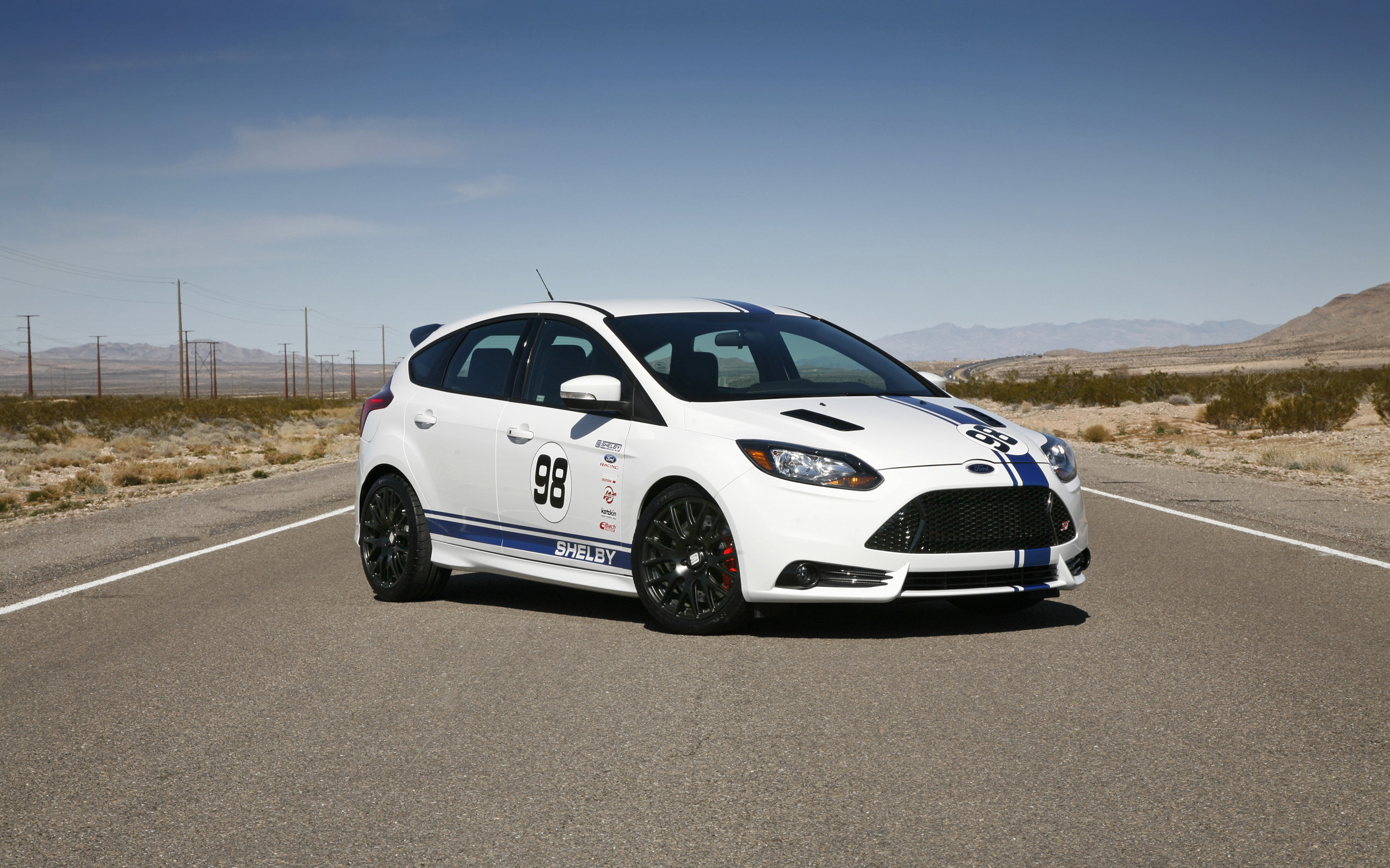 2014 Shelby Ford Focus ST   White   4   2560x1600   Wallpaper 2560x1600