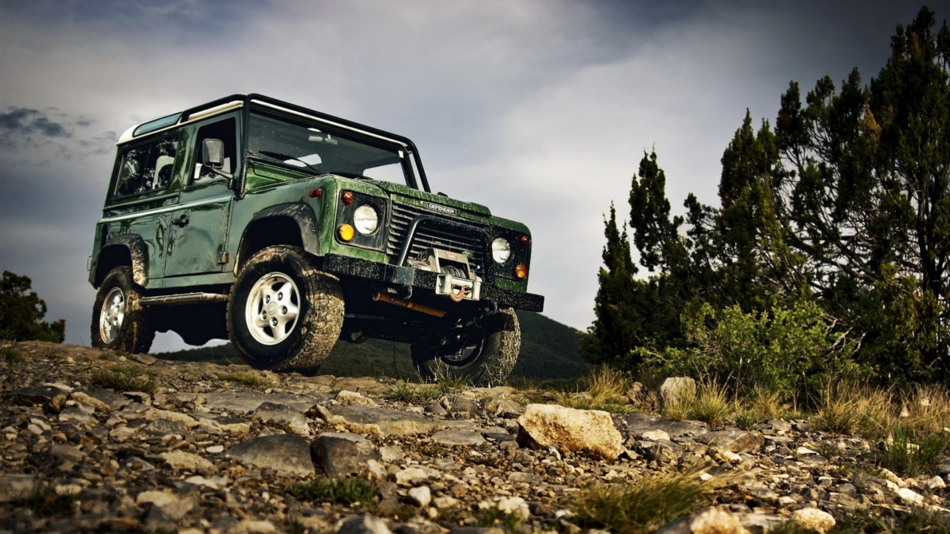 Wallpaper Land rover off road hdr Hill Truck Rocks Off Road Cars 1920x1080