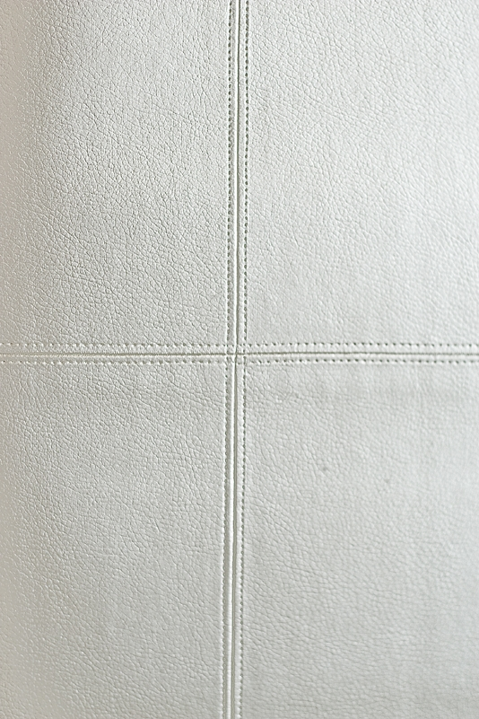 Leather Vinyl Wallcovering Metallic Pewter panelled faux leather 534x801