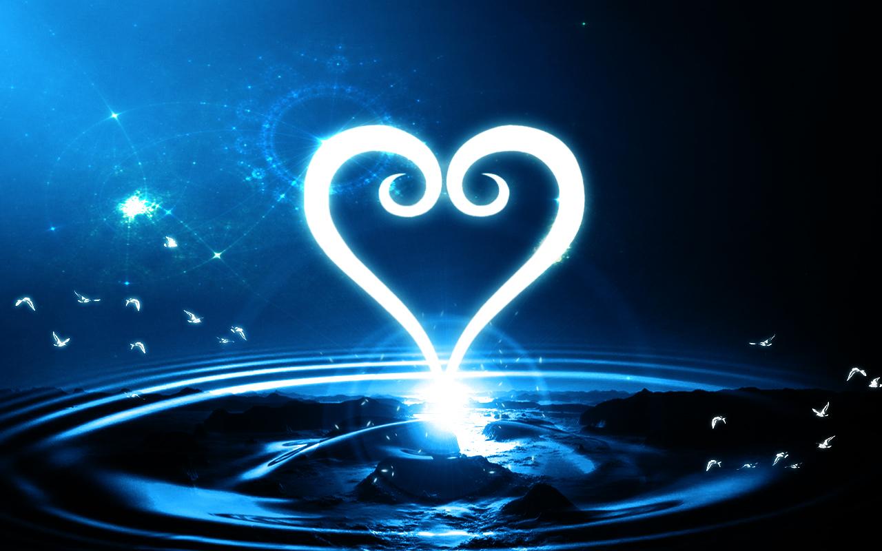 Kingdom Hearts Heart Logo Abstract Wallpaper by Zaxiade 1280x800
