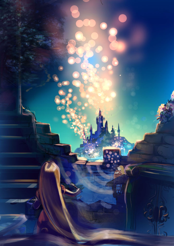 Rapunzel Tangled Lanterns PC Android iPhone and iPad Wallpapers 707x1000