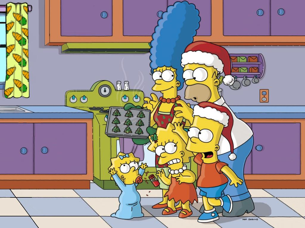 The Simpsons Christmas Wallpaper This was a simpsons christmas 1024x768