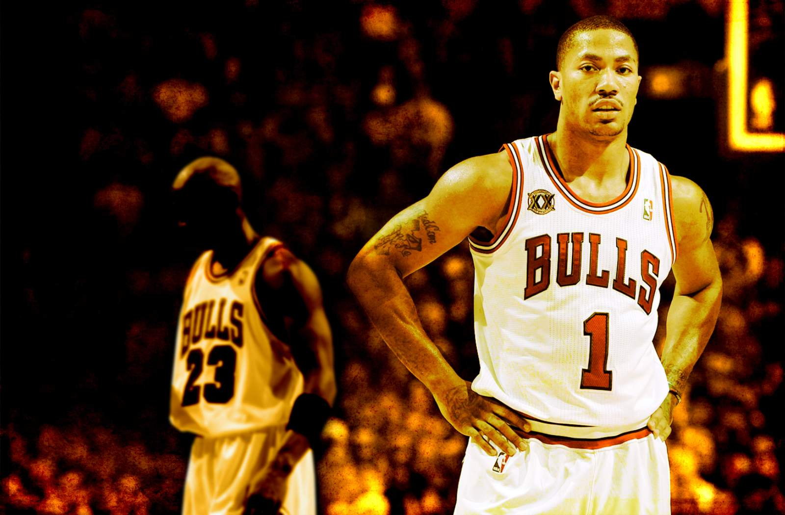 Derrick Rose And MJ Widescreen Wallpaper Basketball Wallpapers at 1600x1050