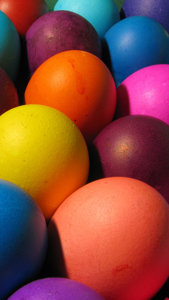 Happy Easter 2013   Download Easter Eggs iPhone 5 HD Wallpapers 640x1136