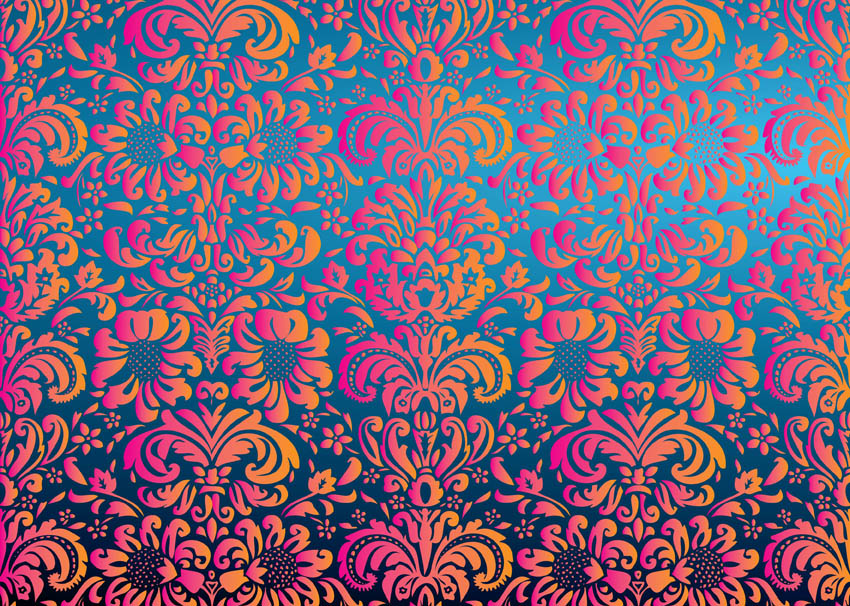 Floral Pattern Vector 850x606