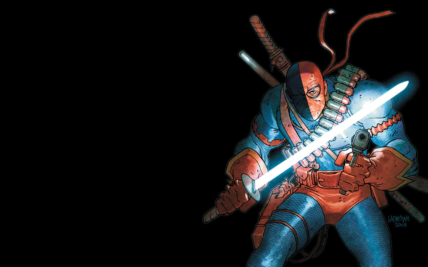 DC Comics Deathstroke black background wallpaper 1440x900 246569 1440x900