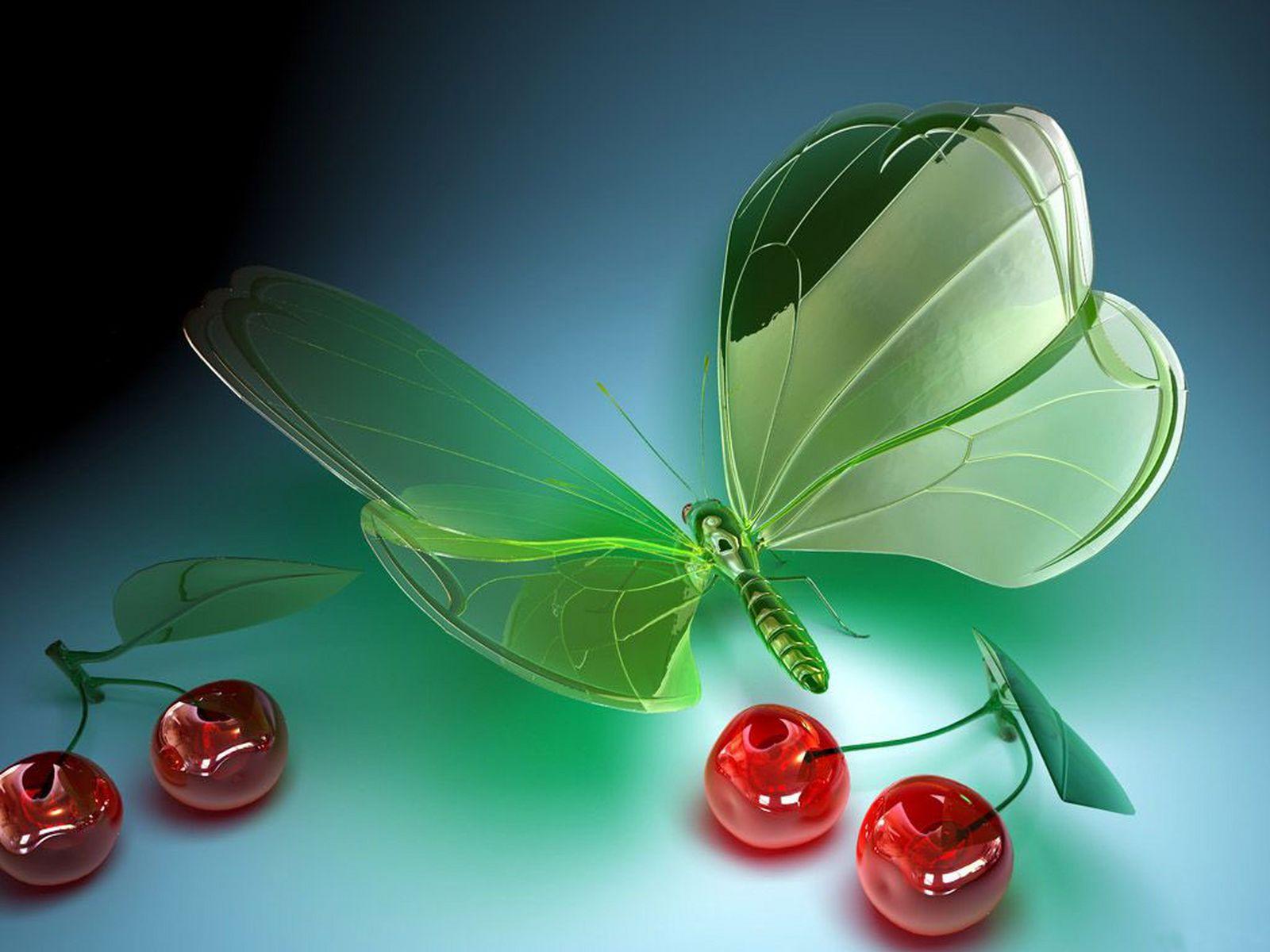 Download Butterfly 3D Art HD Wallpaper 4437 Full Size 1600x1200