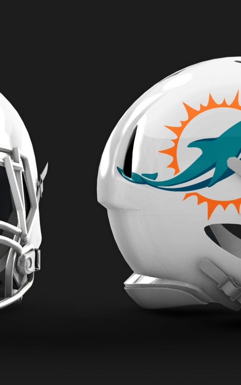 Miami dolphins helmet wallpaper 62469 800x1280
