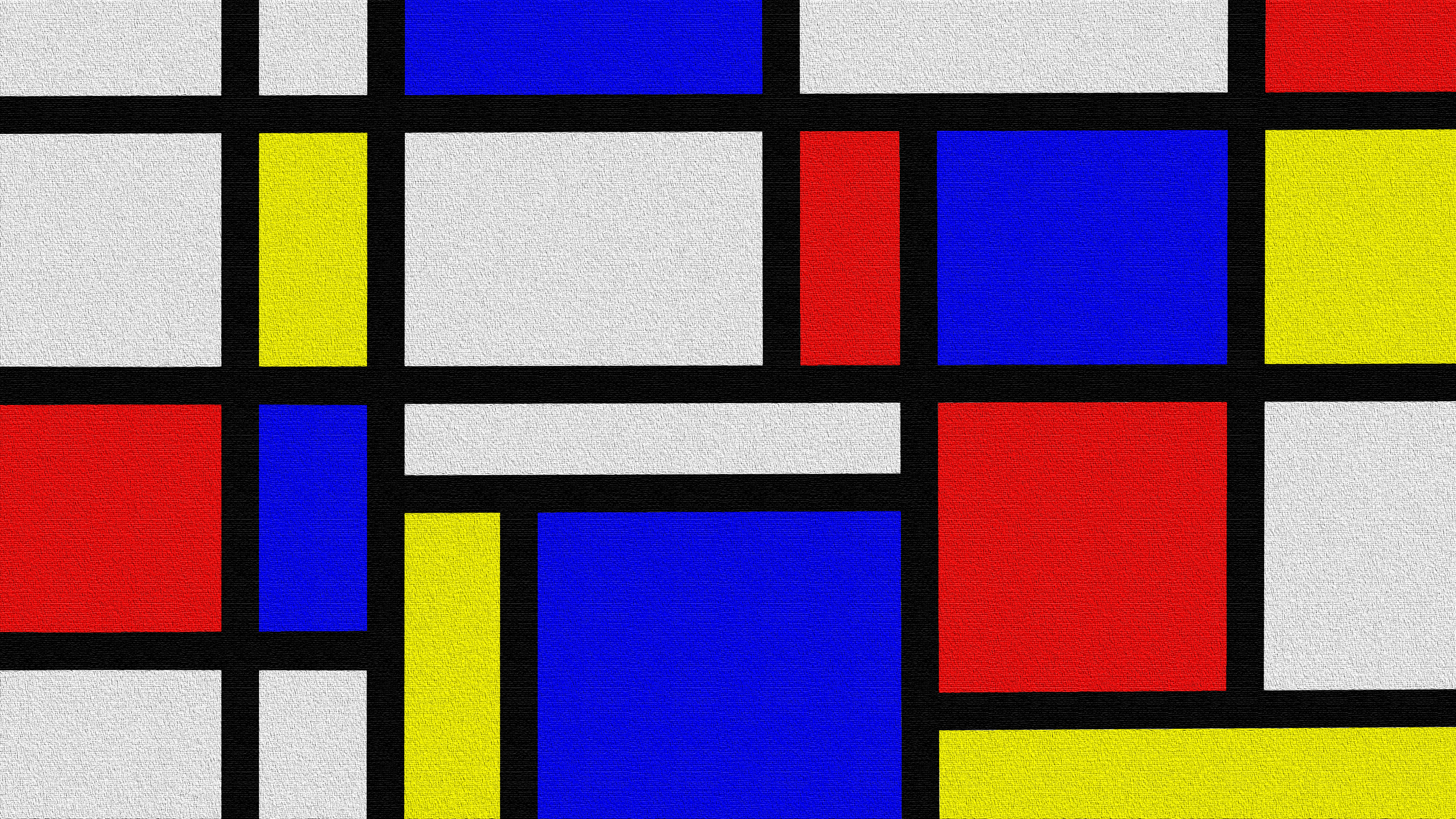 Mondrian Style   Oil on Canvas 4k Ultra HD Wallpaper Background 3840x2160