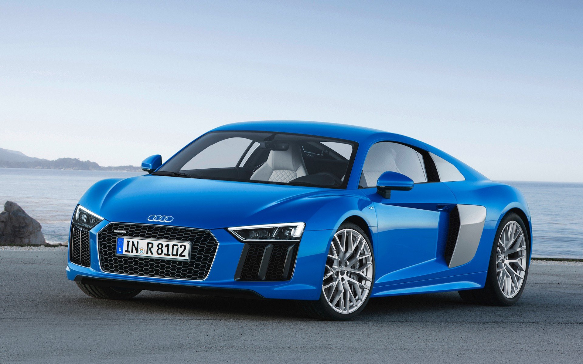 2016 Audi R8 Blue Car Wallpaper   New HD Wallpapers 1920x1200