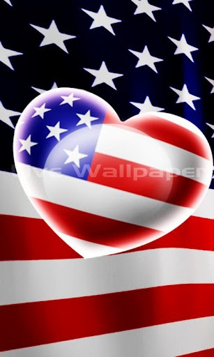 View bigger   Love USA Flag Live Wallpaper for Android screenshot 307x512