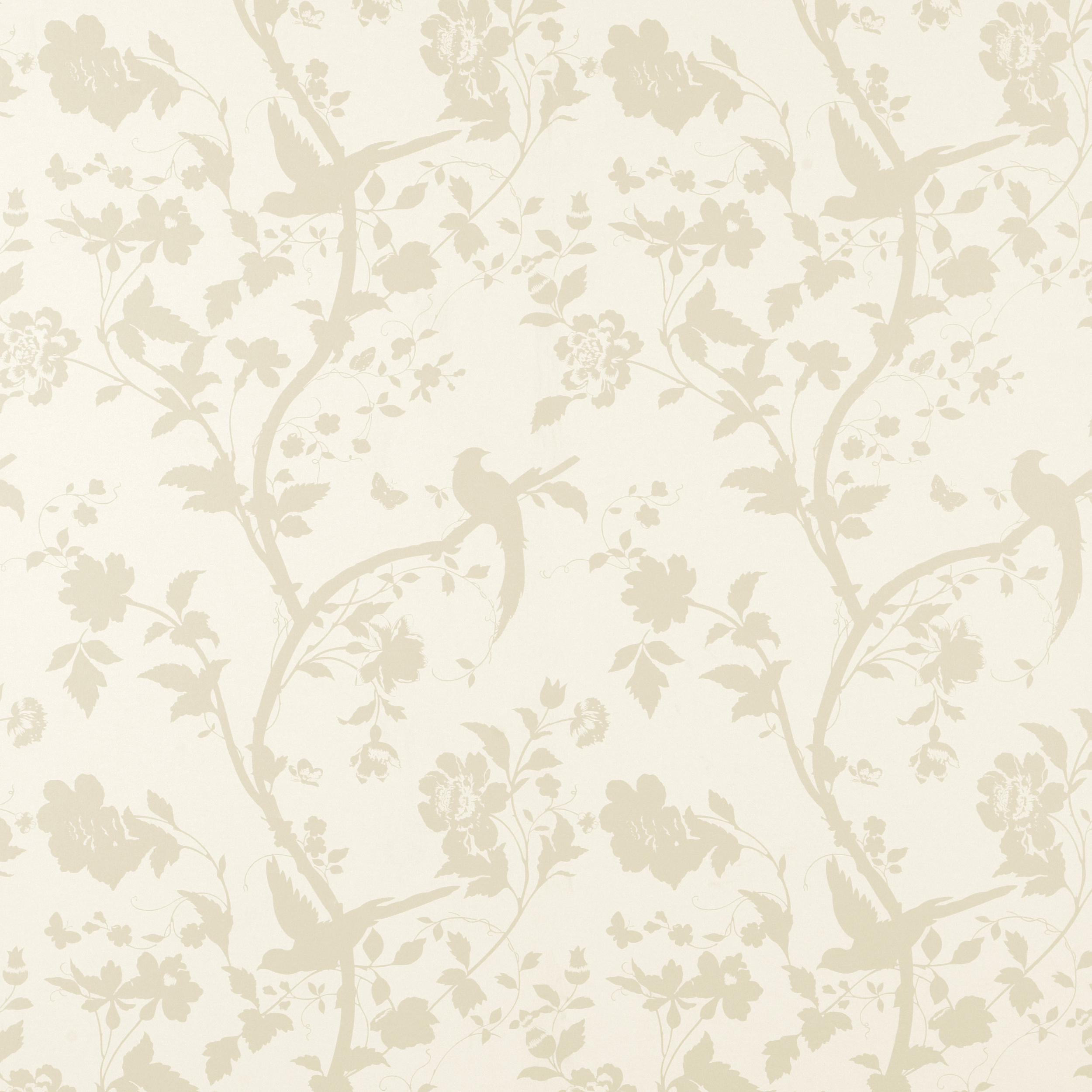 Wallpaper Oriental Garden GoldOff White Floral Wallpaper 2500x2500