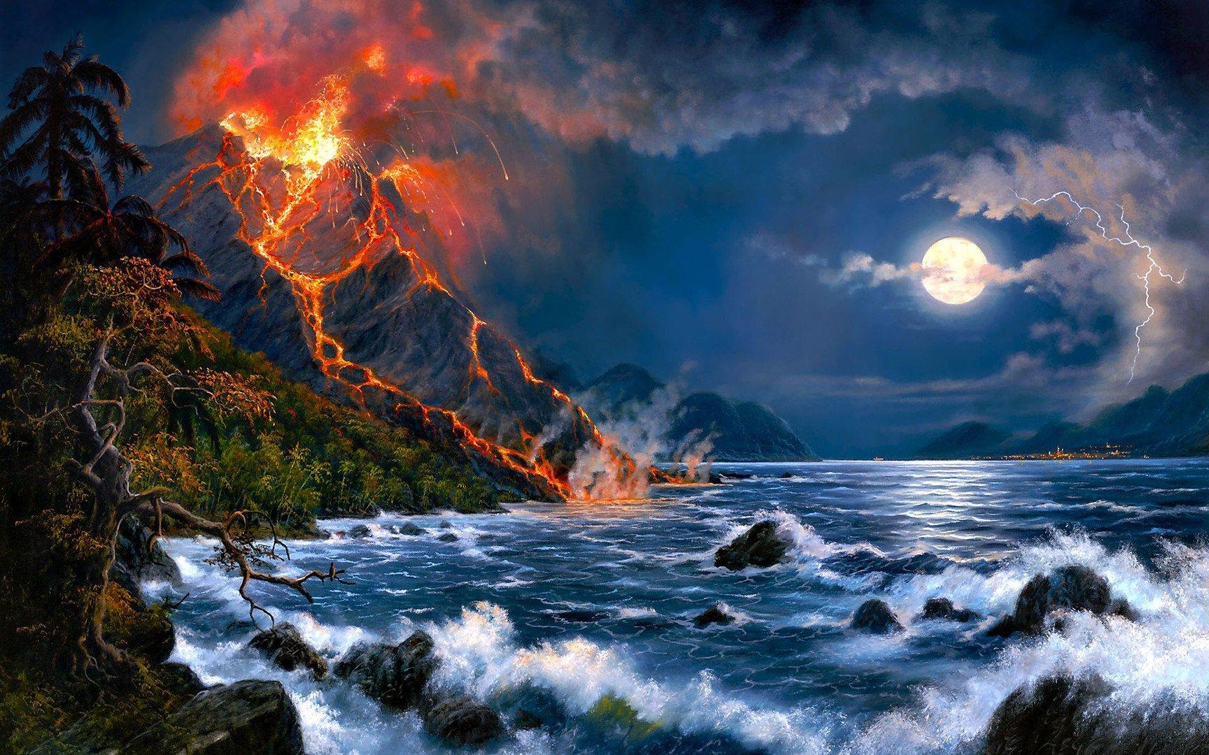 Volcano eruption wallpaper 23366 1728x1080
