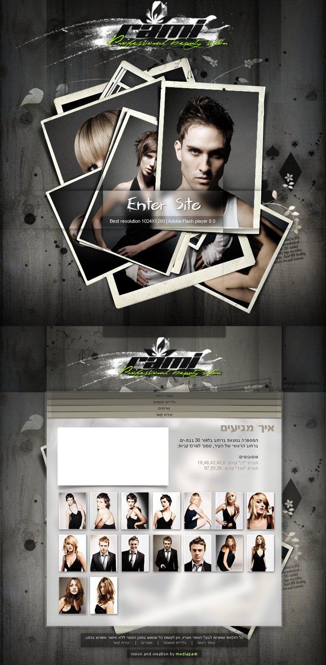 Hair Salon Website Wallpaper Hair salon web design by 662x1350