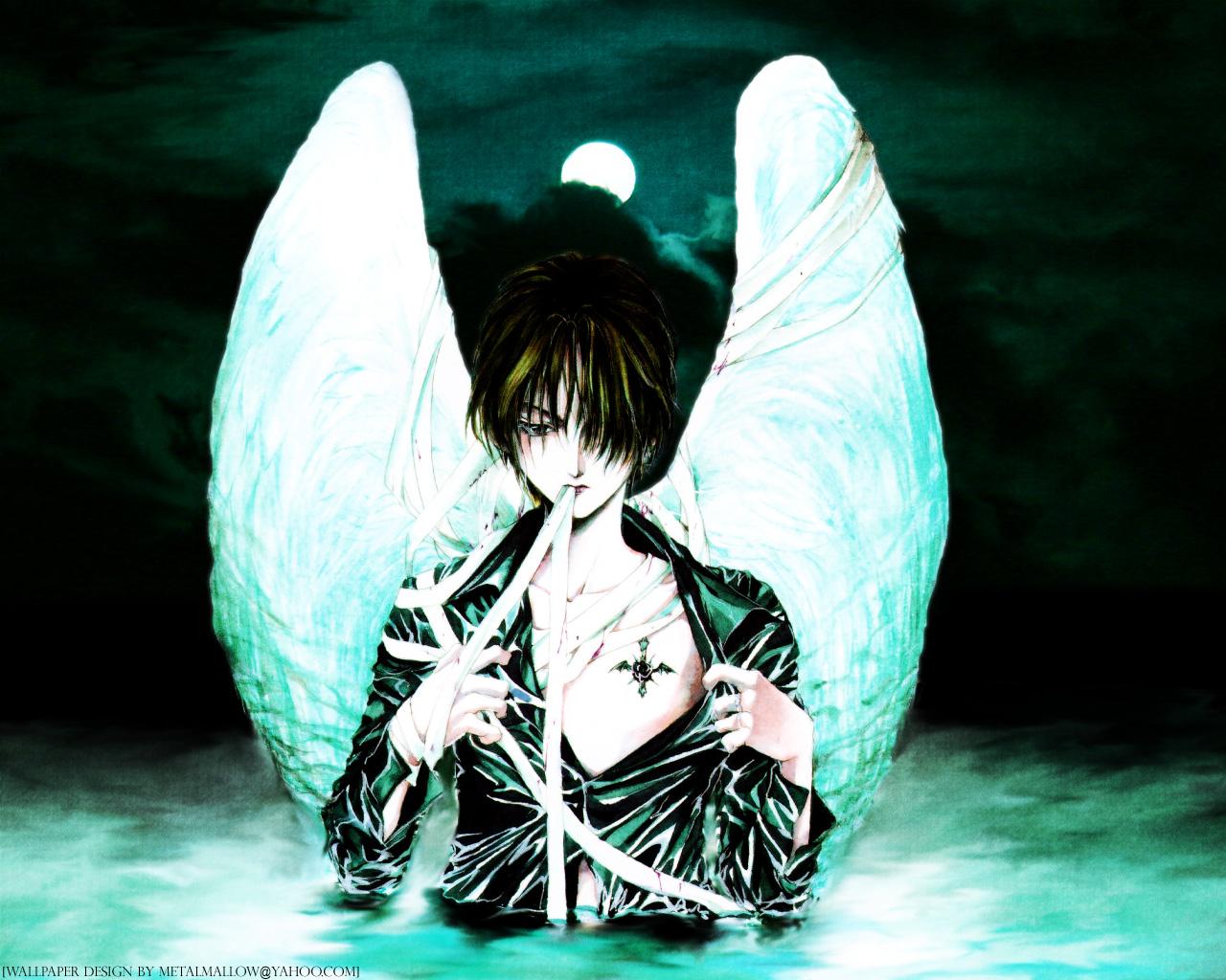 Angel Sanctuary Manga Fantasy Dark Angels Wallpaper Desktop 1280x1024