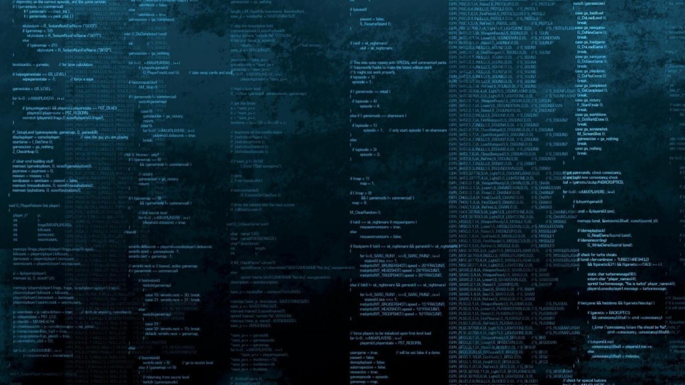 Programming Code Matrix Hd Wallpaper Wallpaper List 1366x768