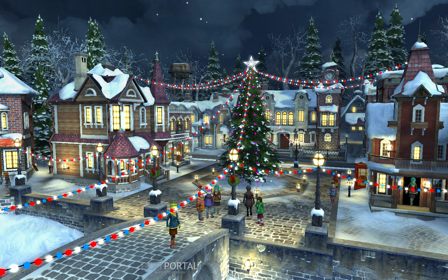 Christmas Village Background 1440x900