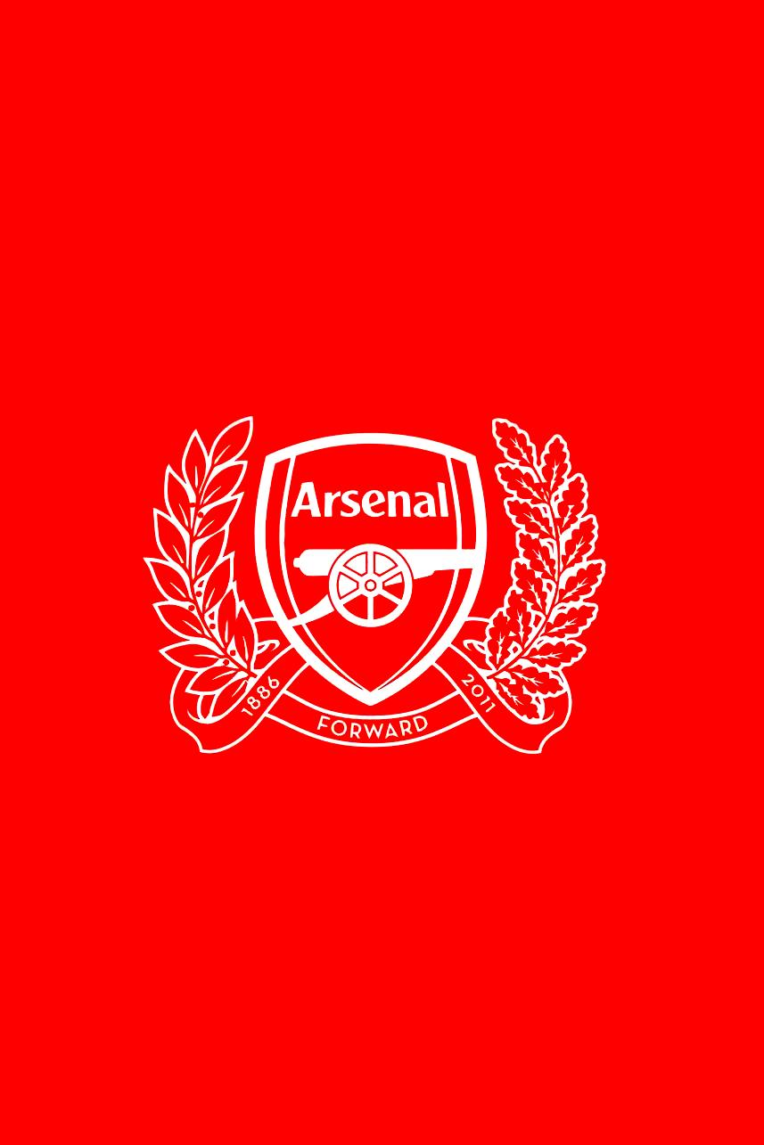 Arsenal new logo   Download iPhoneiPod TouchAndroid Wallpapers 857x1285